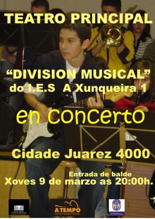 Concerto. A Orquestra do IES A XUNQUEIRA 1 no Teatro Principal de Pontevedra